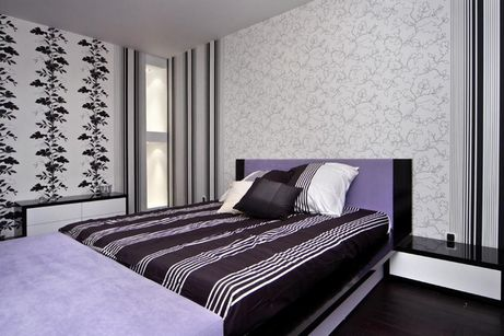 обои-компаньоны в спальне