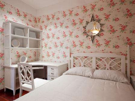 спальня в розочках
