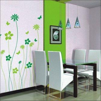 цветочки на стенах