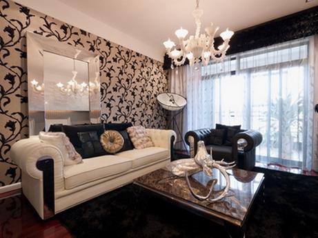 черно-белая мягкая мебель