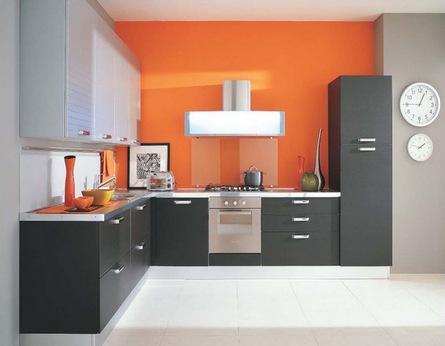 серый в сочетании с оранжевым