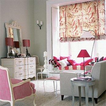 серо-розовый интерьер