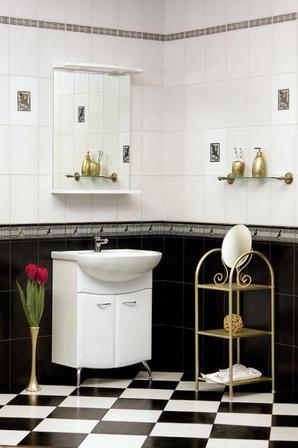 черно-белая плитка для ванной