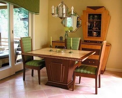интерьер столовой в стиле ар-деко
