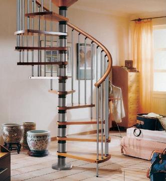 спиральная лестница на второй этаж