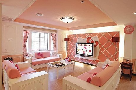 персиковая комната девочки