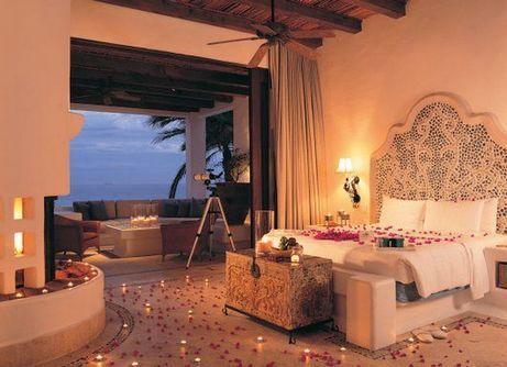 романтическая персиковая спальня