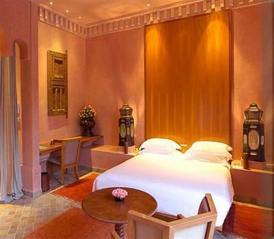 персиковая спальня в марокканском стиле