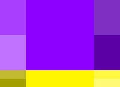 сочетание фиолетового и зеленого