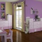 зелено-сиреневая комната для девочки