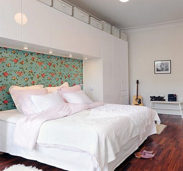 экономия места в спальне: рациональное расположение мебели