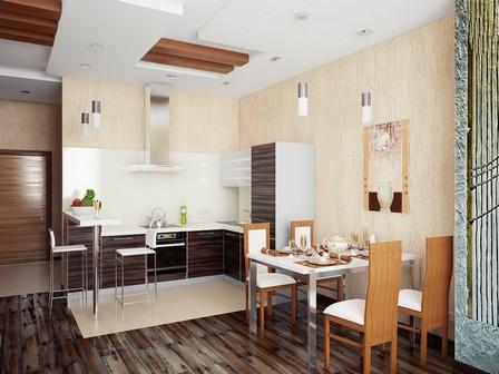 цвета для кухни в стиле кофейни