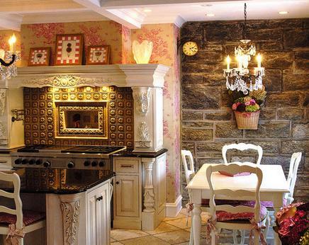 стиль кафе в кухне