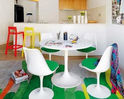 зонирование кухни в стиле кафе