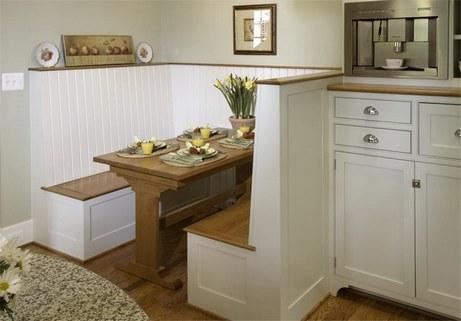 кухонный уголок как кабинка в кафе