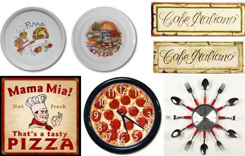декор для кухни по теме пиццерии