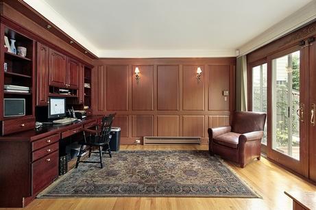 деревянный дизайн домашнего кабинета