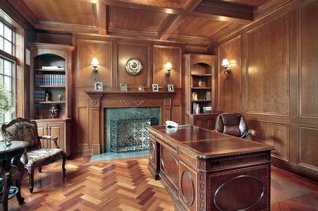 дизайн домашнего кабинета в классическом стиле