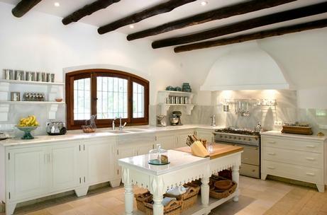 декоративные балки в кухне