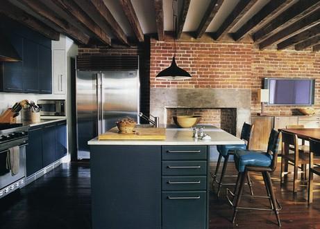 кухня с балками