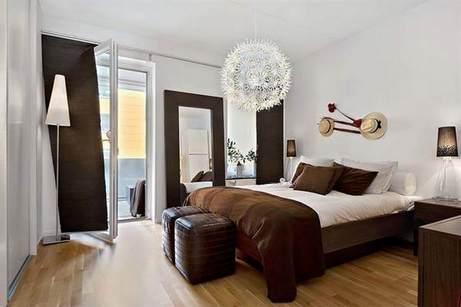 коричневый цвет в спальне