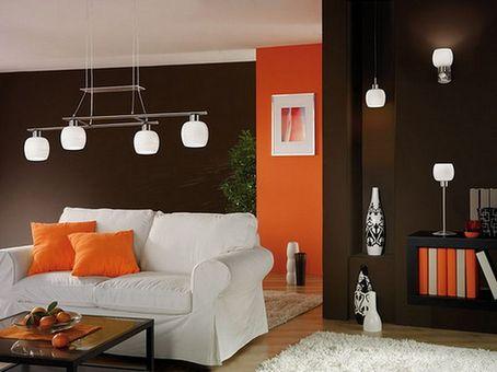 сочетание коричневого с оранжевым
