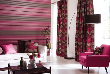 коричнево-розовая комната