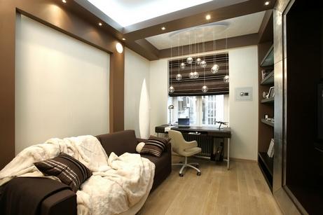 роскошная гостиная в коричневых тонах