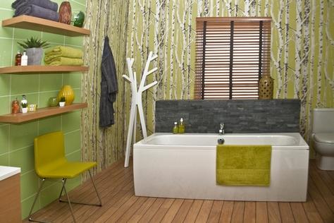 ванная в природном стиле