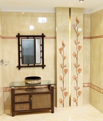 фрагмент ванной с природными мотивами