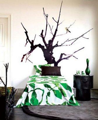 спальня на природном стиле