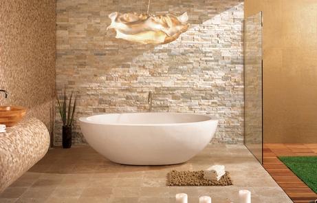 ванная на природном стиле
