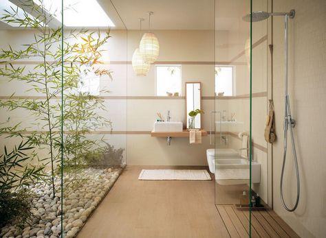 ванная с садом