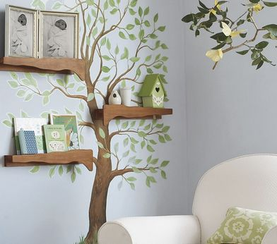 декор стены - дерево