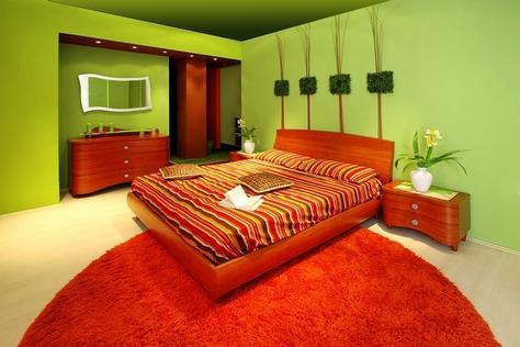 спальня в природном стиле