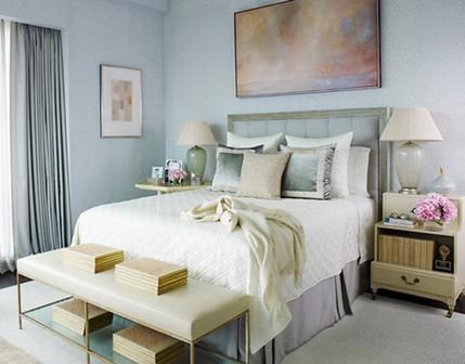спальня в голубом