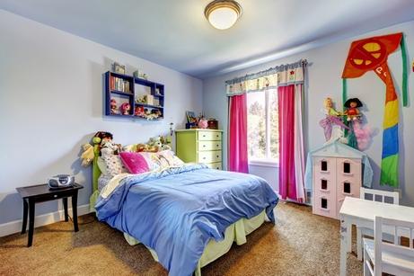 голубая детская спальня