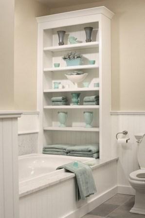 стеллаж в ванной