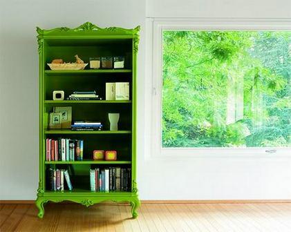 зеленый стеллаж