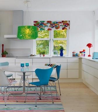 кухня белая и яркая