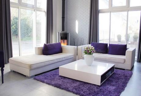 серо-фиолетовый интерьер
