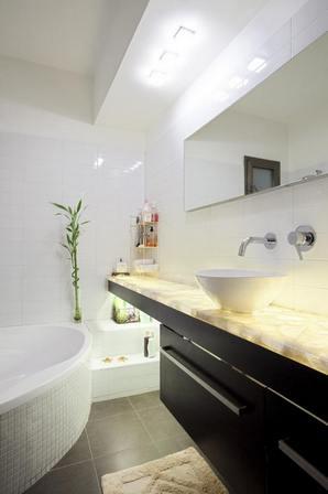 ванная в белом цвете