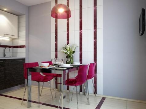 оформление обеденной зоны в кухне