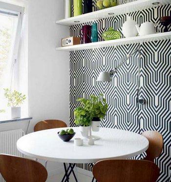 зона столовой в кухне
