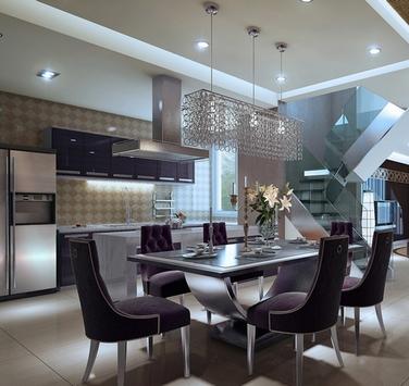 дизайн обеденной зоны в кухне-гостиной