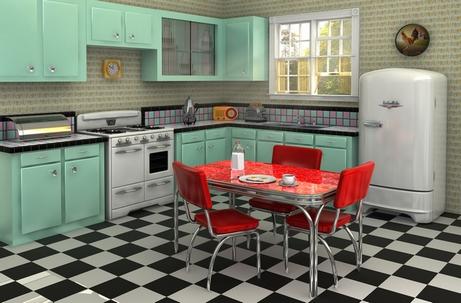 интерьер кухни 50-ых годов