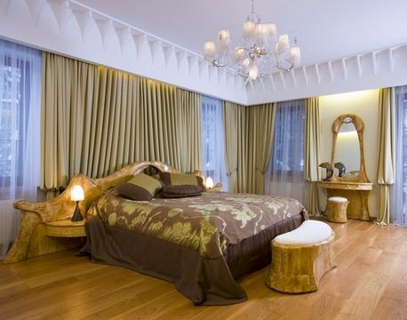 элементы стиля модерн в интерьере спальни