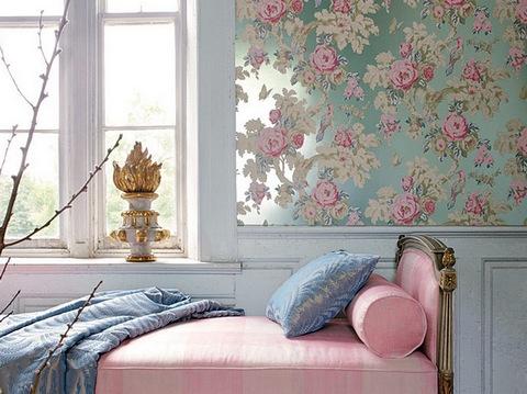 сочетание розового цвета с голубым