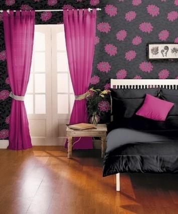 сочетание розового и черного