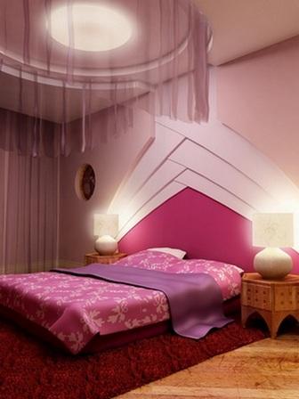 розовая спальня в восточном стиле